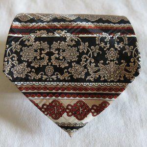 Lanvin Multi Color Stripe 100% Silk Neck Tie